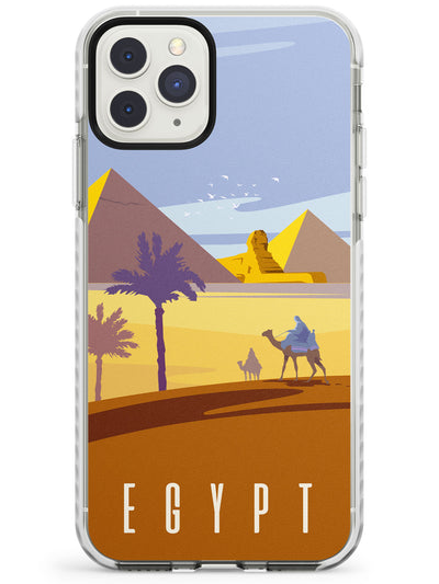 Vintage Travel Poster Egypt Impact Phone Case for iPhone 11 Pro Max