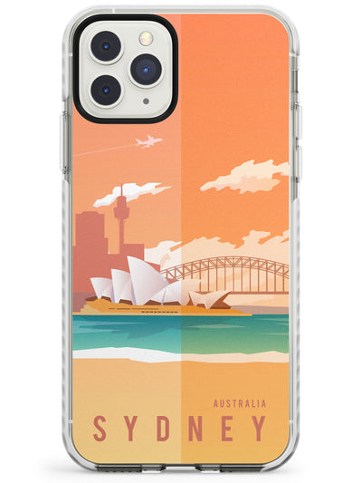 Vintage Travel Poster Sydney Impact Phone Case for iPhone 11 Pro Max