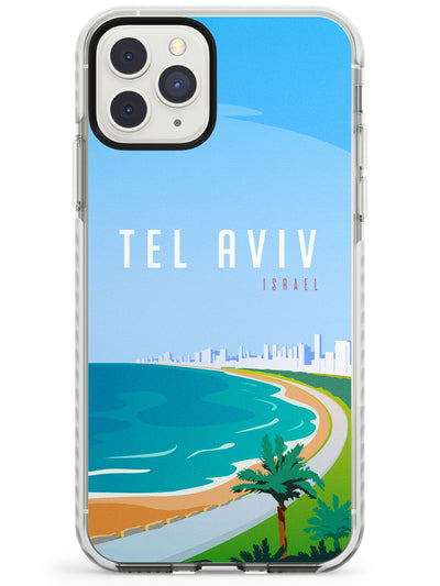 Vintage Travel Poster Tel Aviv Impact Phone Case for iPhone 11 Pro Max
