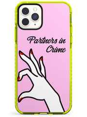 Partners in Crime Matching Cases: Right Side Neon Yellow Impact Phone Case for iPhone 11 Pro Max