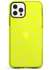 Boob Pattern (White) Neon Yellow Impact Phone Case for iPhone 11 Pro Max