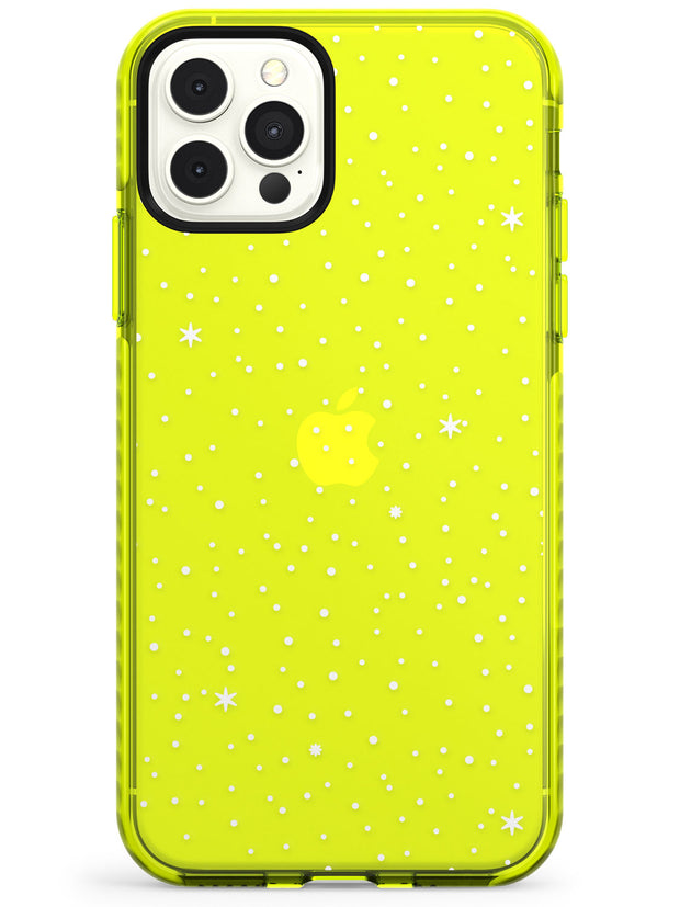 Celestial Starry Sky White Neon Yellow Impact Phone Case for iPhone 11 Pro Max