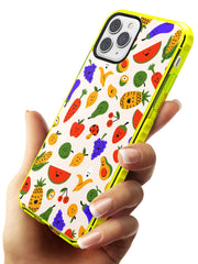 Mixed Kawaii Food Icons - Solid iPhone Case Neon Yellow Impact Phone Case Warehouse 11 Pro Max
