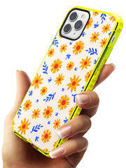 Cute Daisy Pattern - Solid iPhone Case Neon Yellow Impact Phone Case Warehouse 11 Pro Max