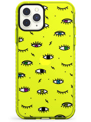 Colorful Psychedelic Eyes  Neon Impact Phone Case - Case Warehouse
