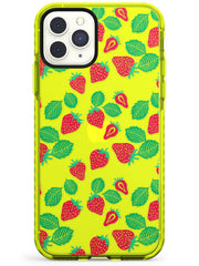 Strawberry Pattern iPhone Case  Neon Impact Phone Case - Case Warehouse