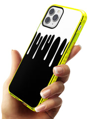 Melted Effect: White & Black iPhone Case Neon Yellow Impact Phone Case Warehouse 11 Pro Max