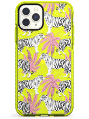 Tigers Within Neon Yellow Impact Phone Case for iPhone 11 Pro Max