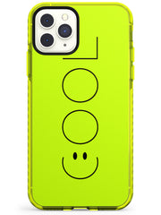 COOL Smiley Face Neon Yellow Impact Phone Case for iPhone 11 Pro Max
