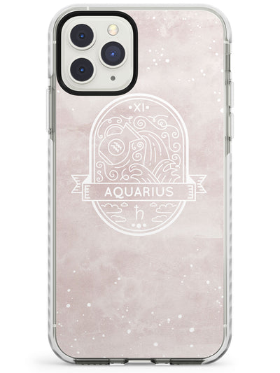 Aquarius Astrological Zodiac Sign - Pink Impact Phone Case for iPhone 11 Pro Max