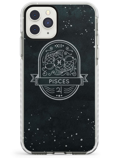 Pisces Astrological Zodiac Sign - Black Impact Phone Case for iPhone 11 Pro Max