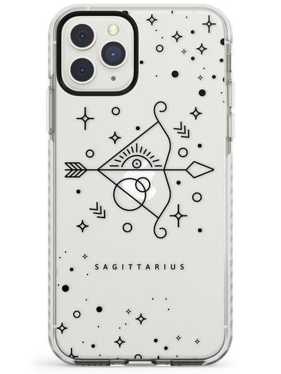 Sagittarius Emblem - Transparent Design Impact Phone Case for iPhone 11 Pro Max