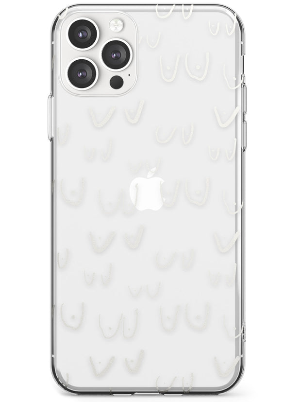 Boob Pattern (White) Slim TPU Phone Case for iPhone 11 Pro Max