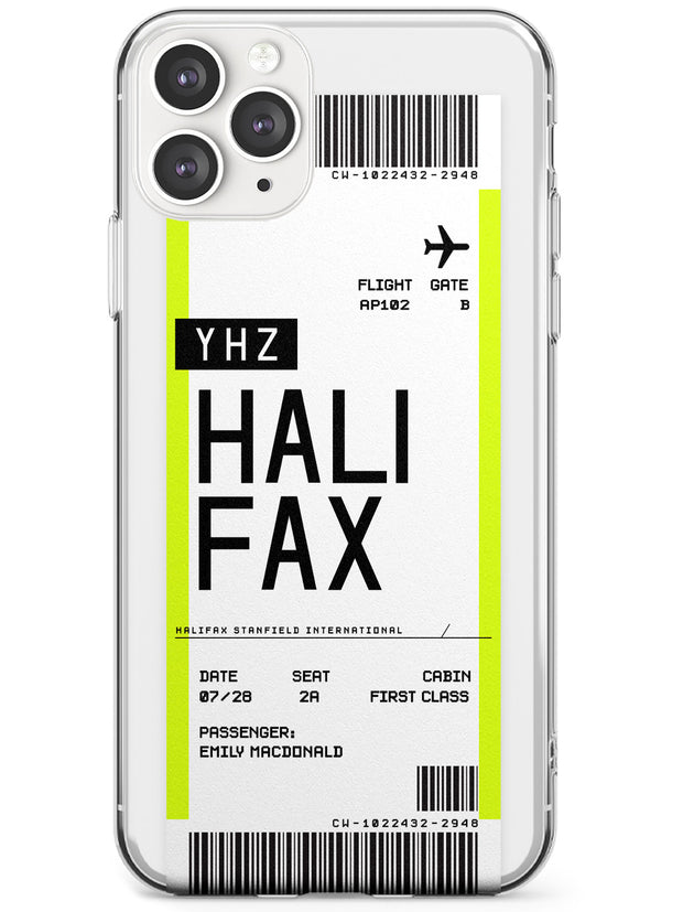 Halifax Boarding Pass iPhone Case  Slim Case Custom Phone Case - Case Warehouse