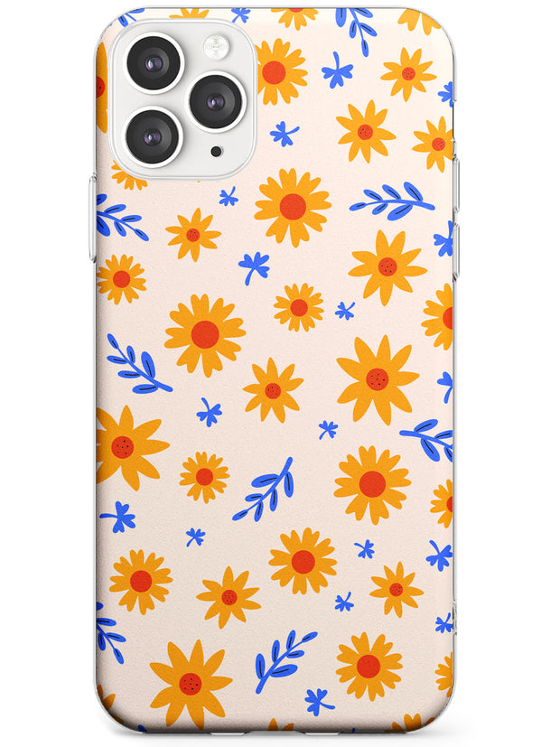 Cute Daisy Pattern - Solid iPhone Case Slim TPU Phone Case Warehouse 11 Pro Max