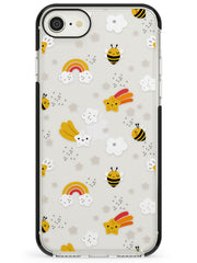 Busy Bee Black Impact Phone Case for iPhone SE 8 7 Plus