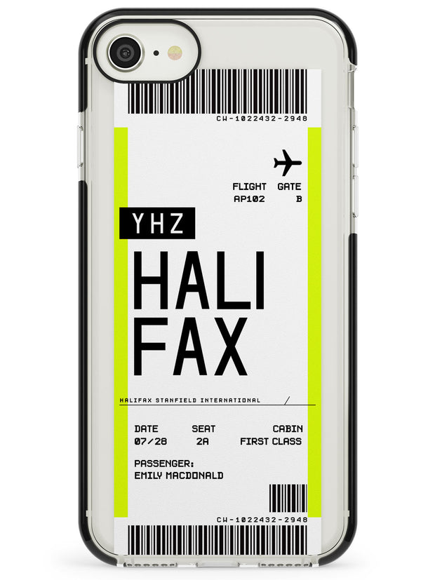 Halifax Boarding Pass iPhone Case  Black Impact Custom Phone Case - Case Warehouse