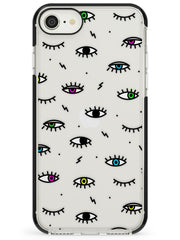 Colorful Psychedelic Eyes  Black Impact Phone Case - Case Warehouse