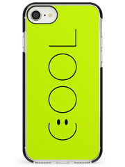 COOL Smiley Face Black Impact Phone Case for iPhone SE 8 7 Plus