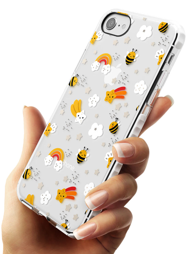 Busy Bee Impact Phone Case for iPhone SE 8 7 Plus