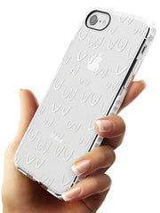 Boob Pattern (White) Impact Phone Case for iPhone SE 8 7 Plus