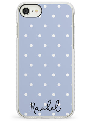 Simple Light Blue Dots iPhone Case by Case Warehouse ®