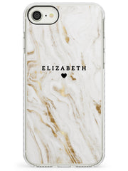 White & Gold Swirl Marble iPhone Case by Case Warehouse ®