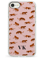 Safari Tiger Pattern on Pink iPhone Case  Impact Case Custom Phone Case - Case Warehouse