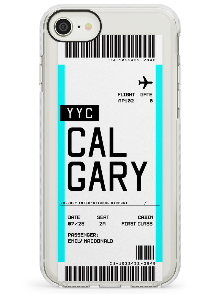 Calgary Boarding Pass iPhone Case by Case Warehouse ®