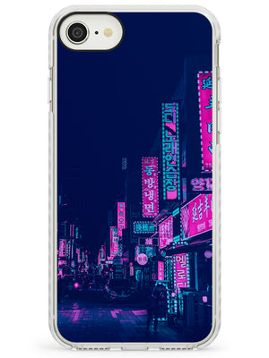Pink & Turquoise - Neon Cities Photographs iPhone Case by Case Warehouse ®