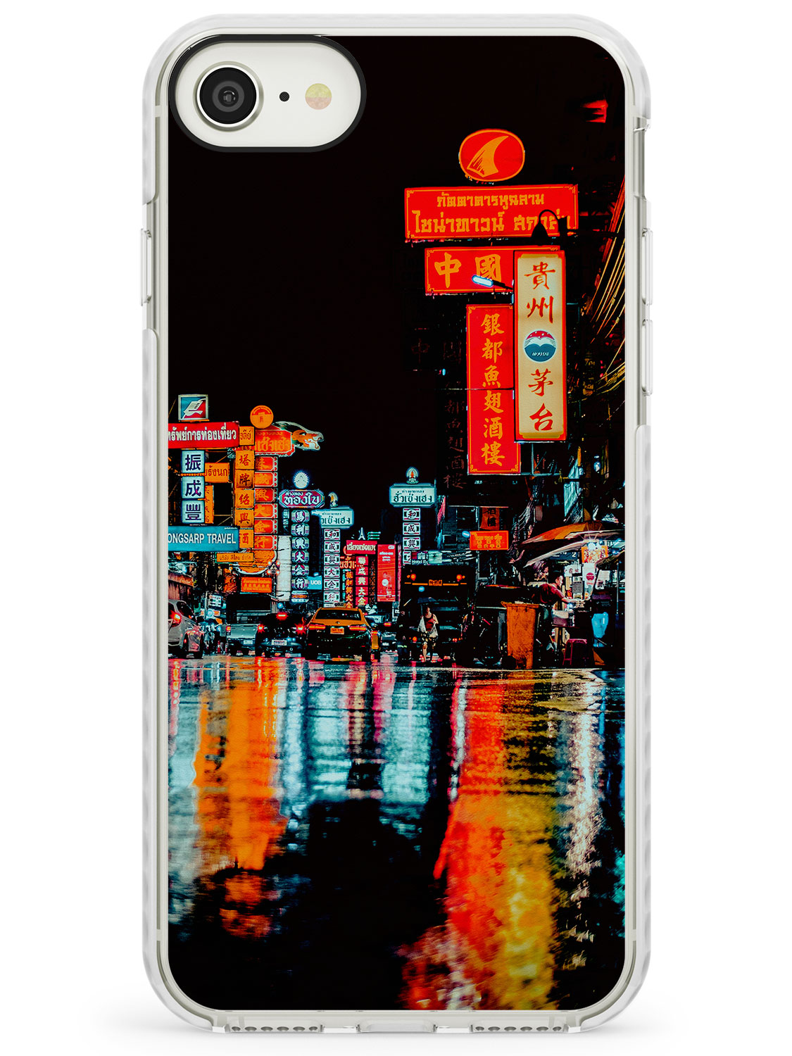 Colourful Reflections - Neon Cities Photographs iPhone Case by Case Warehouse ®