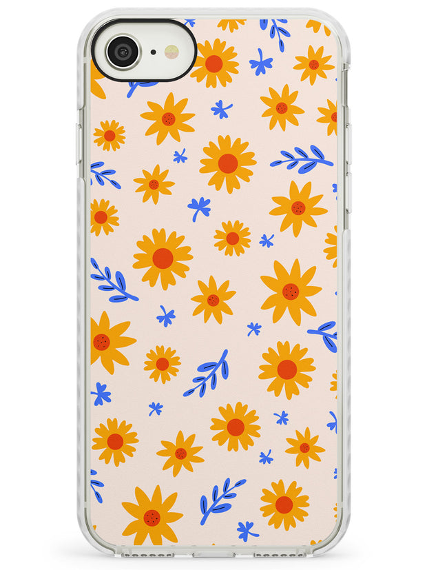 Cute Daisy Pattern - Solid iPhone Case Impact Phone Case Warehouse SE 8 7 Plus
