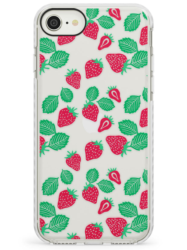 Strawberry Pattern iPhone Case  Impact Case Phone Case - Case Warehouse