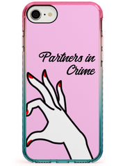 Partners in Crime Matching Cases: Right Side Pink Fade Impact Phone Case for iPhone SE 8 7 Plus