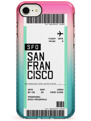 San Francisco Boarding Pass iPhone Case  Pink Fade Impact Custom Phone Case - Case Warehouse