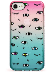 Colorful Psychedelic Eyes  Pink Fade Impact Phone Case - Case Warehouse