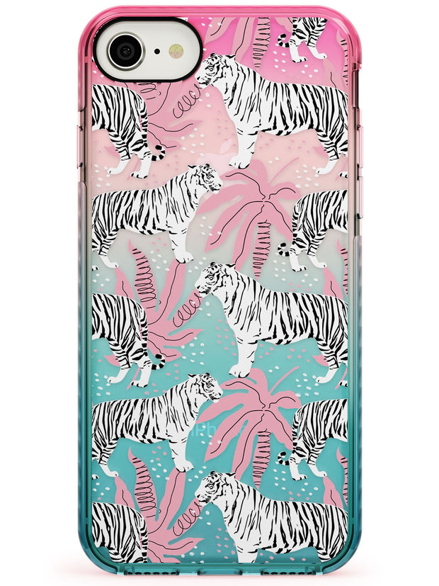 Tigers Within Pink Fade Impact Phone Case for iPhone SE 8 7 Plus