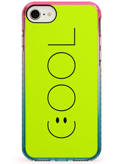 COOL Smiley Face Pink Fade Impact Phone Case for iPhone SE 8 7 Plus