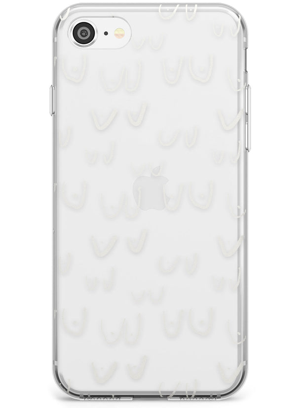 Boob Pattern (White) Slim TPU Phone Case for iPhone SE 8 7 Plus