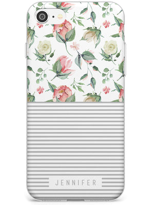 Light Floral Pattern & Stripes iPhone Case by Case Warehouse ®