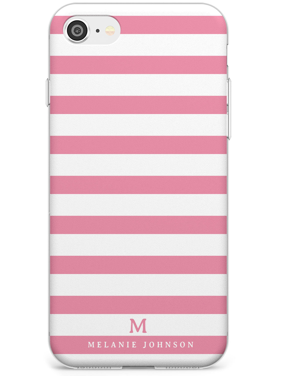 Pink Stripes & Small Monogram