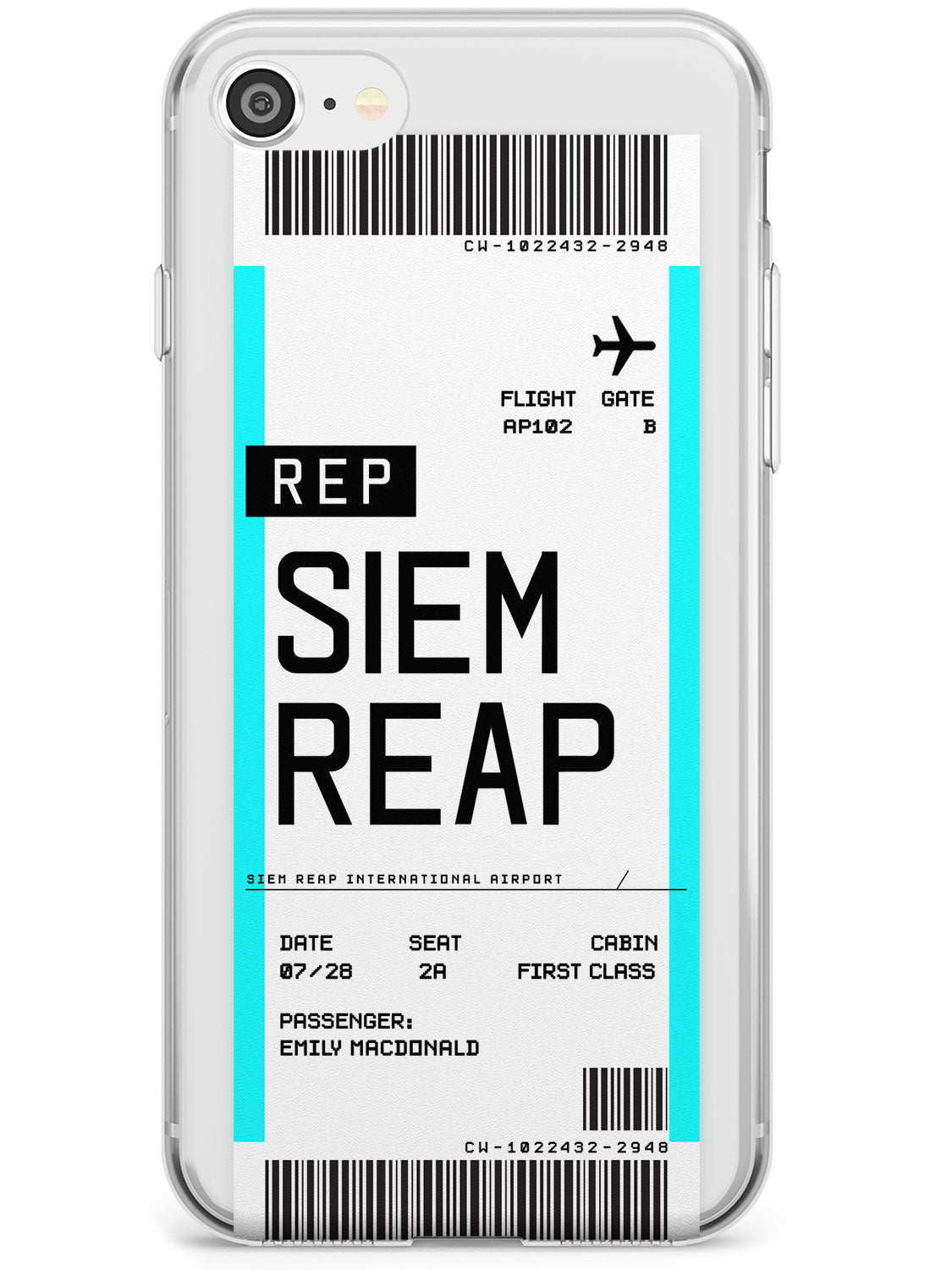 Siem Reap Boarding Pass iPhone Case by Case Warehouse ®