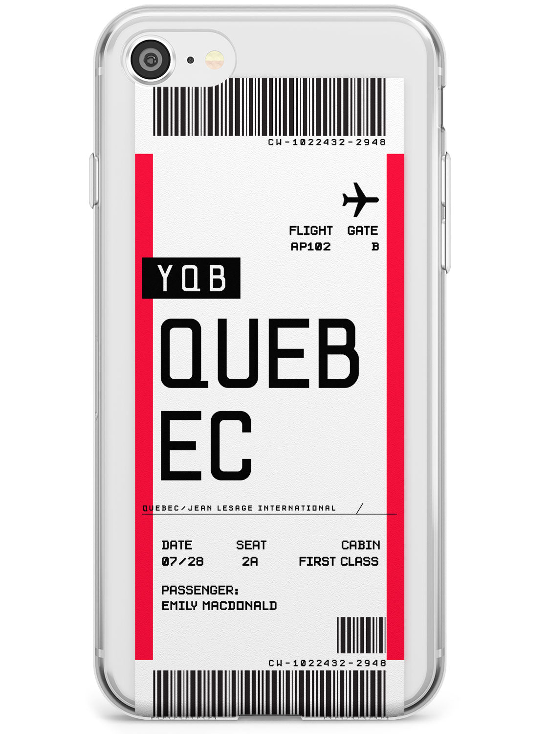 Quebec Boarding Pass iPhone Case by Case Warehouse ®