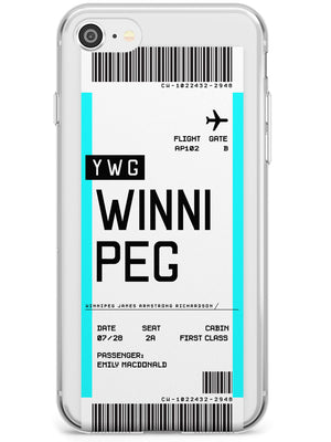 Winnipeg Boarding Pass iPhone Case by Case Warehouse ®
