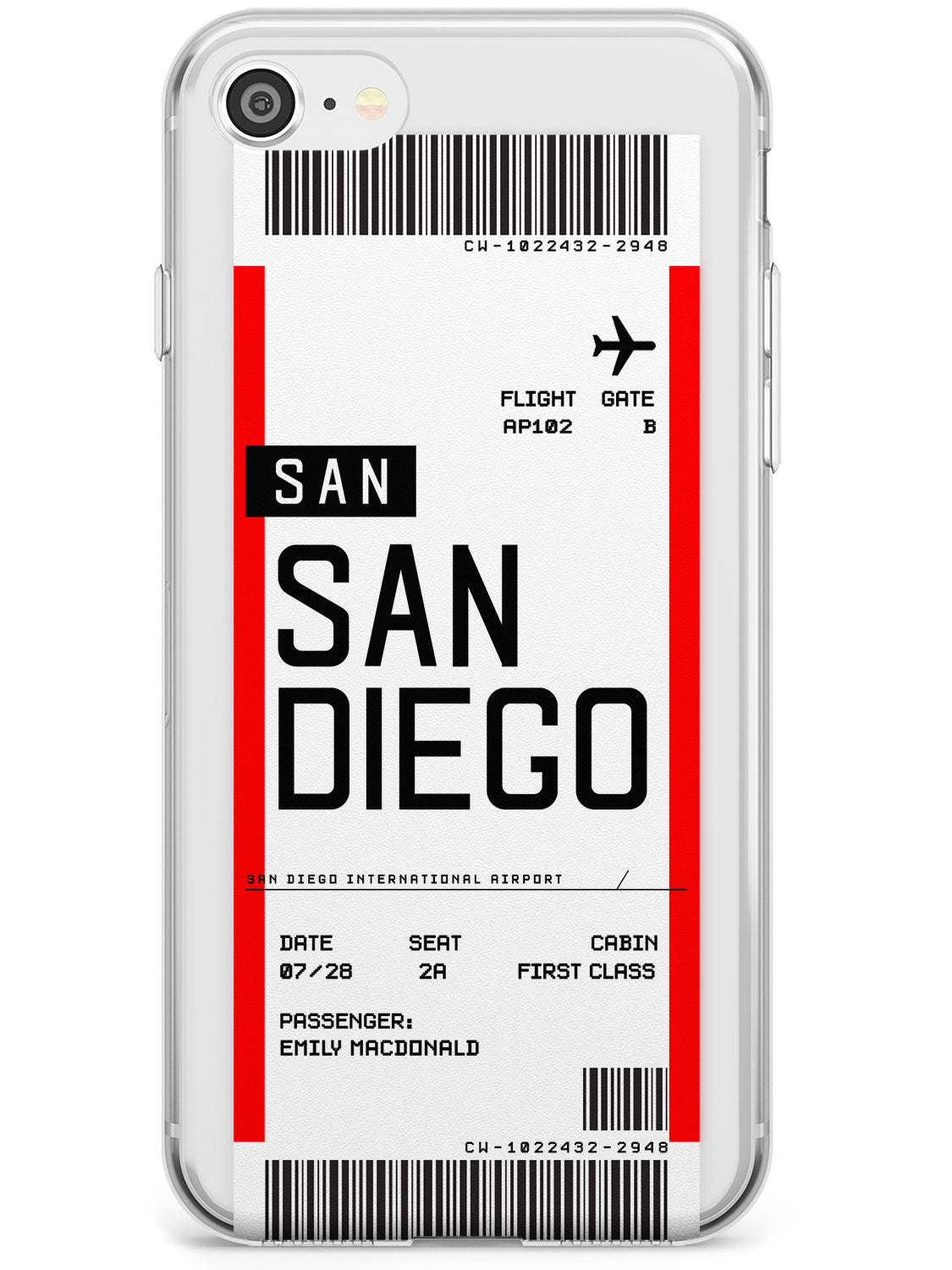 San Diego Boarding Pass iPhone Case by Case Warehouse ®