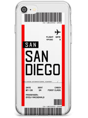 San Diego Boarding Pass iPhone Case  Slim Case Custom Phone Case - Case Warehouse