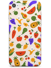 Mixed Kawaii Food Icons - Solid iPhone Case Slim TPU Phone Case Warehouse SE 8 7 Plus