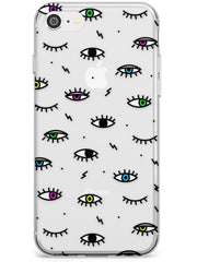 Colorful Psychedelic Eyes  Slim Case Phone Case - Case Warehouse
