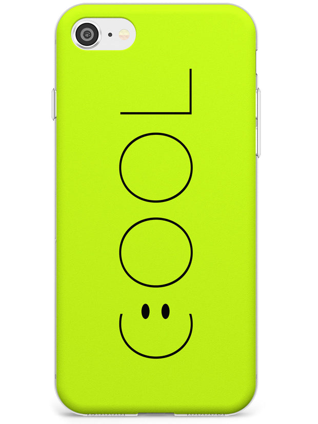 COOL Smiley Face Slim TPU Phone Case for iPhone SE 8 7 Plus