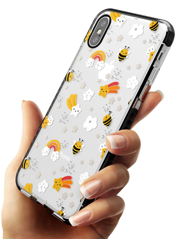 Busy Bee Black Impact Phone Case for iPhone X XS Max XR